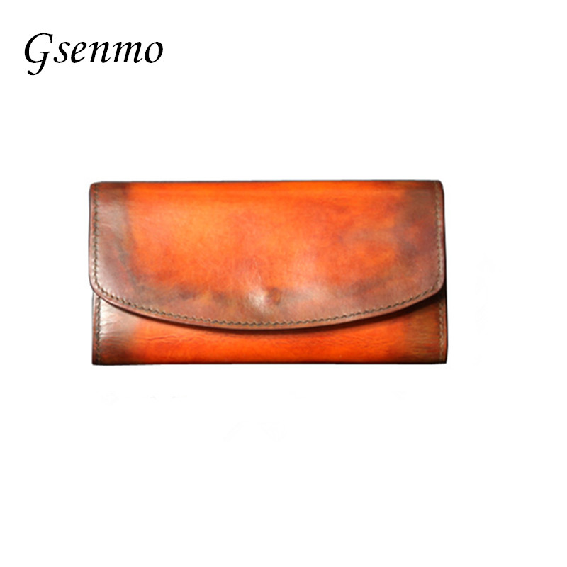 Women Wallets Genuine Leather Medium-Long Organizer Wallet Cowhide Hasp Vintage Lady Clutch Carteira Feminina Purse Phone Case comics dc marvel wallets green arrow leather purse women money bags gift wallet carteira feminina bolsos mujer de marca famosa