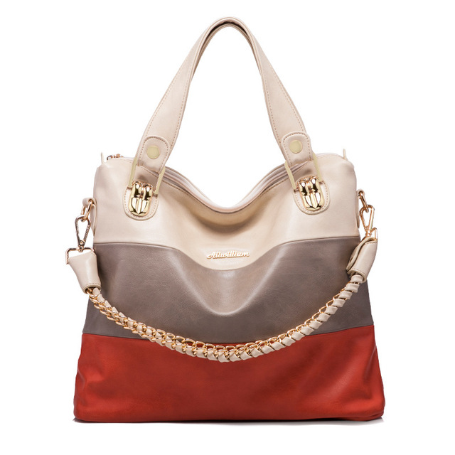 d680ea6538 Women Fashion Handbag Patchwork Shoulder Bags Handbags Women Famous Brands  Female Crossbody Messenger Bag Ladies Tote