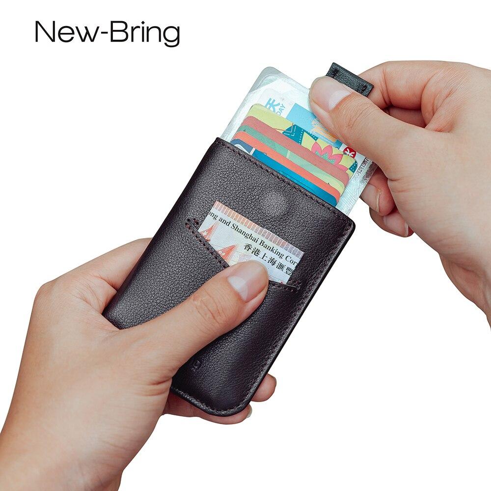 Newbring Schlanke Echtem Leder Brieftasche Kurze Karte Halter Fahrer Lizenz Kupplung Brieftasche Magnetische Verschluss Geldbörse Für Männer Herrenbekleidung & Zubehör