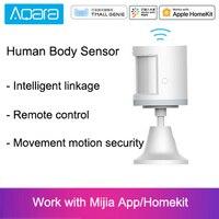 Горячая Xiao mi Aqara датчик человеческого тела ZigBee движение безопасности движения беспроводное соединение интенсивность света шлюз 2 mi домашне...