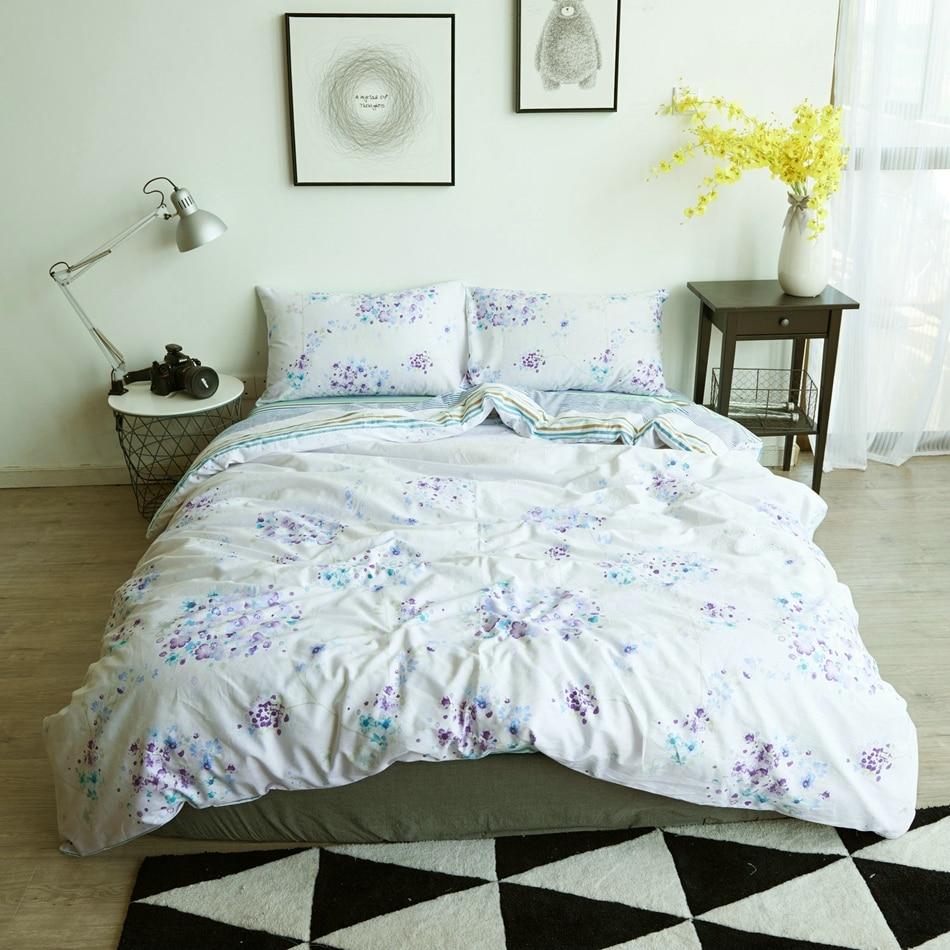 online get cheap purple nature duvet aliexpresscom  alibaba group - fresh bedding set singlefullqueenking size pastoral duvet coverpillowcases cotton