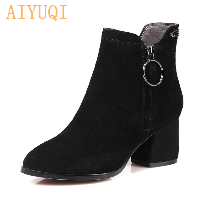 aecd66df0766 High-quality natural genuine leather women ankle boots. 2019 winter shoes  new fashion brand Martin boots. female with thick