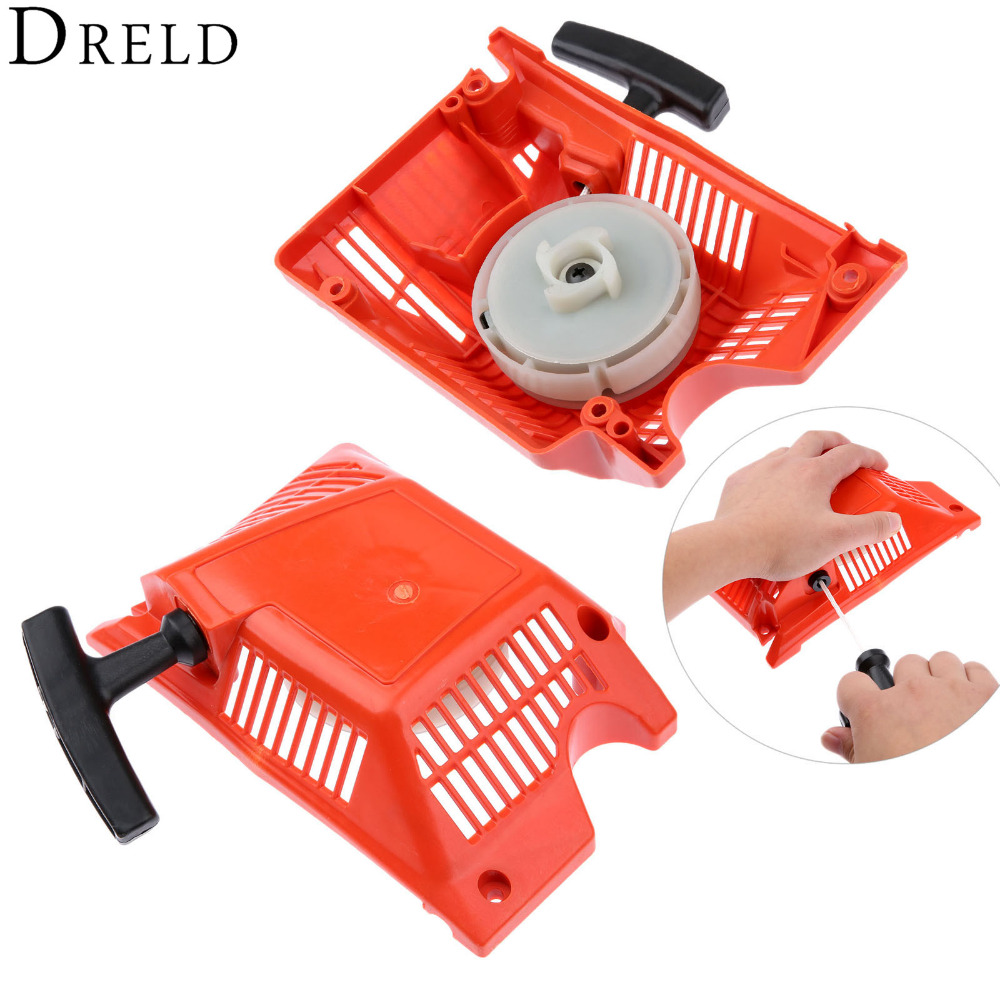 DRELD 45cc 52cc 58cc Chainsaw Parts Single Recoil Pull Starter Assembly Chainsaw Spares For Chinese Chainsaw 4500/5200/5800 recoil starter handle grip for all chainsaw brush cutter and spare parts 2500 3800 4500 5200 5800 6200