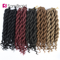 Sambraid Crochet Braiding Hair Goddess Faux Locs Curl 12 Inch Synthetic Braiding Hair Extension Soft Locks For Black Women