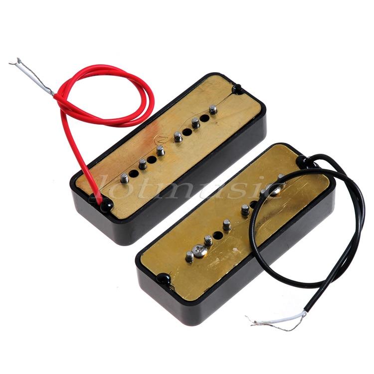Kmise 3 Sets guitare électrique pick-up P90 Soapbar pick-up simple bobine cou pont pour pour guitare électrique - 3