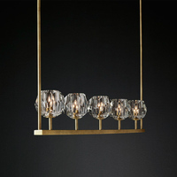 Livewin Luxury Crystal Pendant Light Suspension Hanging 3 Colour 5/6 LED Lamp Dinning Room Luminaire Fixtures Lamparas Colgantes