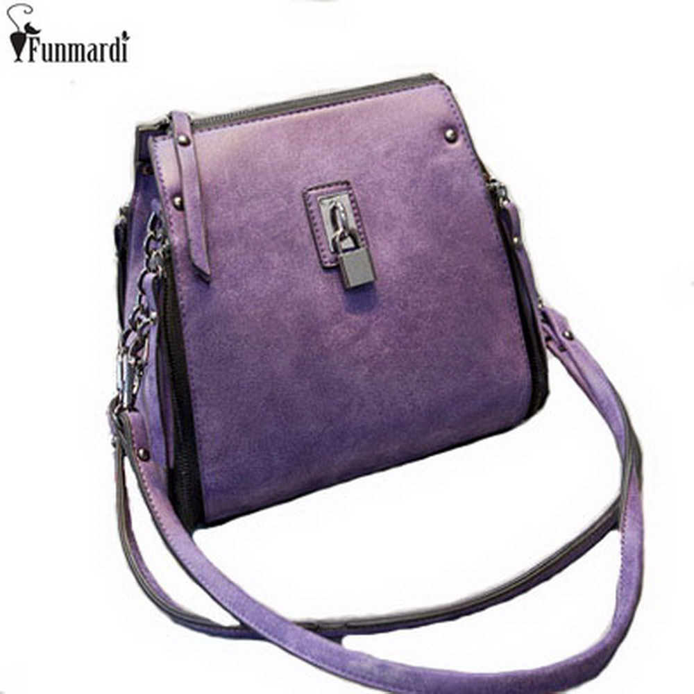 FUNMARDI Vintage Women Leather Shoulder Bag New Arrival Fashion Cross Body Bag Simple Design Handbag Casual Chain Bags WLAM0078 golden brass kitchen faucet dual handles vessel sink mixer tap swivel spout w pure water tap