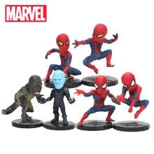 6,5-8 см 6 шт. игрушки Marvel Мстители Человек-паук лизардман Набор фигурок супергерой Человек-паук ПВХ фигурка Коллекционная модель куклы