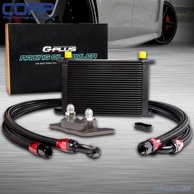 25row Engine Oil Cooler Relocation Kit For Bmw Mini Cooper S R56 Turbo 06 12 Bk