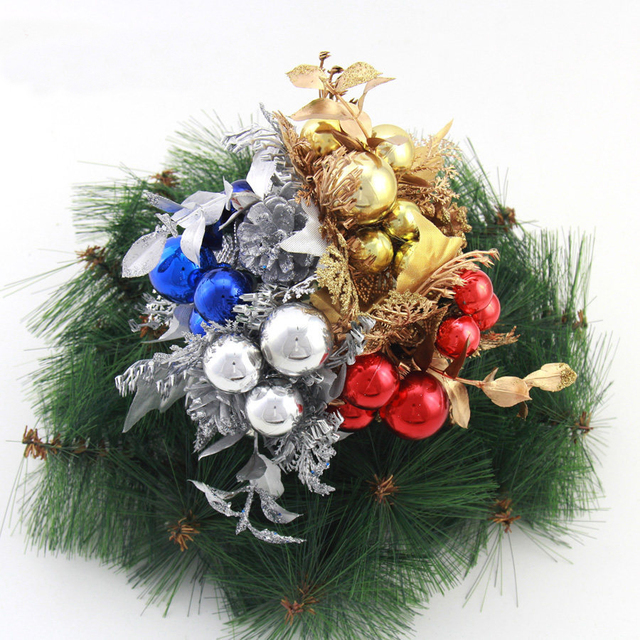 christmas tree hanging fruit ball flower brand event party ornament red silver gold christmas decorations for - Red And Silver Christmas Tree
