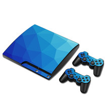 Pure Color Vinyl Decal Skin Sticker for PS3 Slim Console Skins+2PCS Controller Stickers for Sony PlayStation3 Slim Accessory(China)
