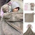 Kavkas Cobertores Do Bebê 76x76 cm Fundamento Do Bebê Recém-nascidos do Presente de Aniversário Macio Morno do Inverno Coral Fleece Animal de Pelúcia Educacional Brinquedo de pelúcia