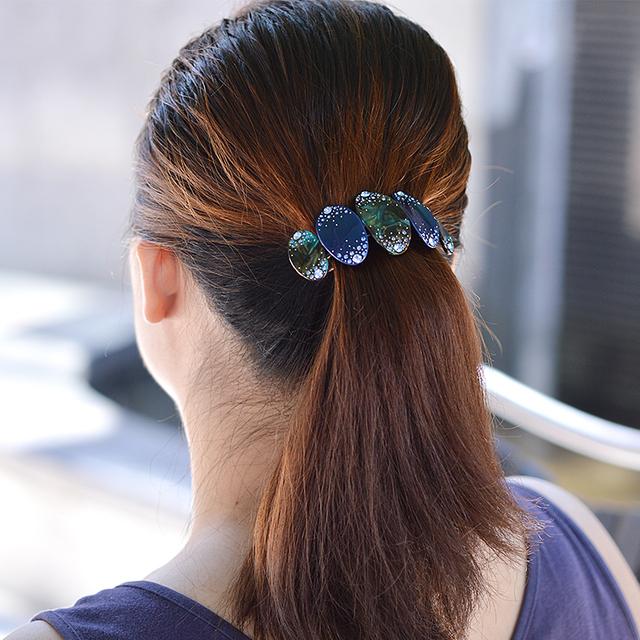Rhinestone Acetate Hair Clip