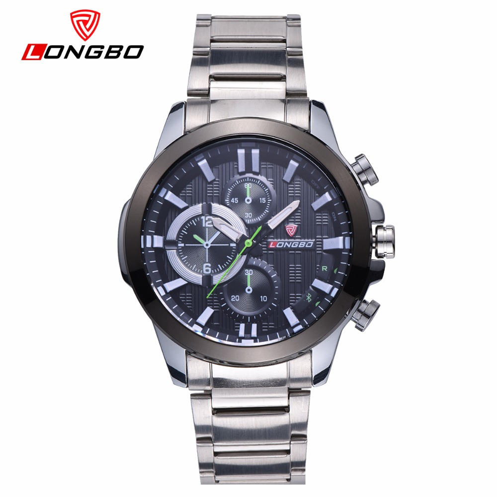 LONGBO Military Stainless Steel Men Watches Fashion Quartz Wrist Watch 2018 Brand Luxury Male Clock Hodinky Relogio Masculino цена