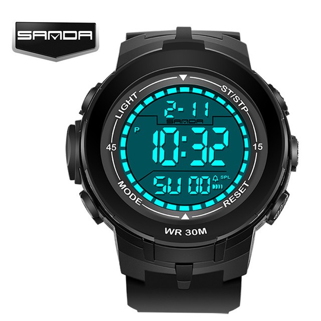 2017 New Brand SANDA Watch Men Military Sports Watches Fashion Silicone Waterproof LED Digital Watch For Men Clock digital-watch