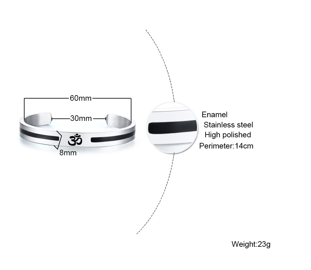 9200ec30972632 Each bangle cuff is made of sturdy and high quality 316L Stainless Steel  (thicker than most bangle cuffs!)