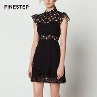 Летнее кружевное платье с открытой спиной горячее предложение Женские пикантные черное платье Открытое платье