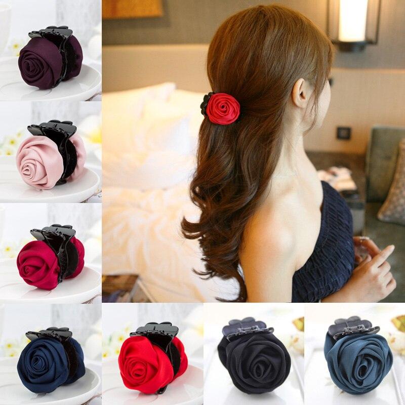 Aikelina Fashion Korean Brand Hair Clip Rose Hair Claws Clips Hair Accessories For Women Girls Hair Crab Clamp Hairpin Headwear