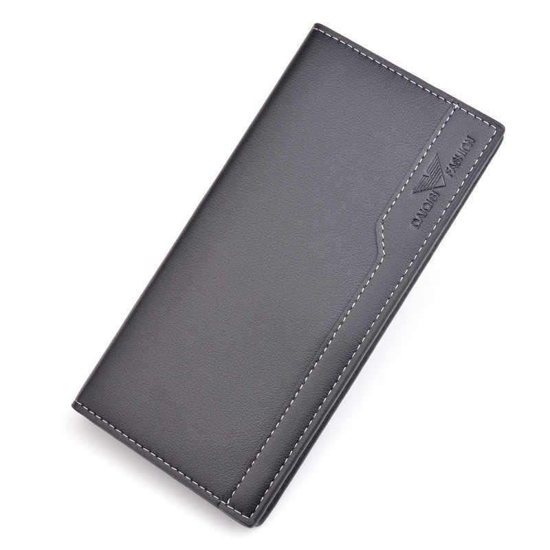 Мужской кошелек с резьбой, Длинный кошелек, двойной мужской кошелек, брендовый известный кожаный Длинный кошелек, клатч, мужской кошелек, держатель для карт