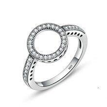 Новые трендовые кубические циркониевые белые хрустальные кольца для женщин классические серебряные свадебные и обручальные кольца Модные Ювелирные изделия Подарки