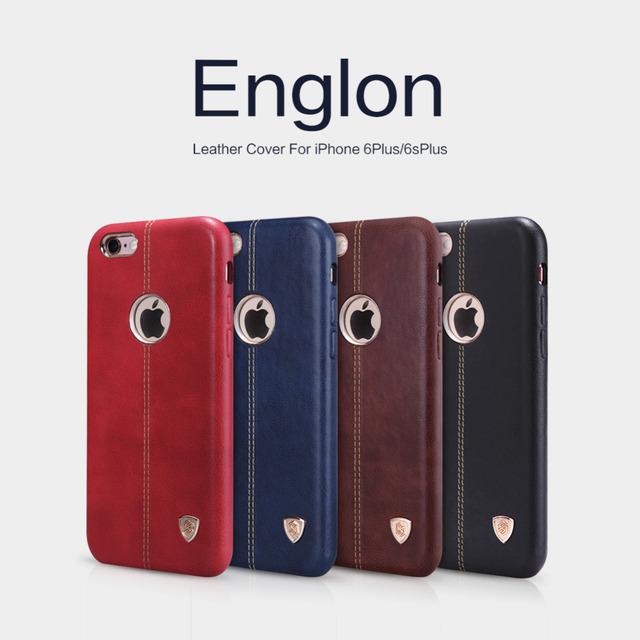 Case para iphone 6 plus/iphone 6 s plus nillkin Englon Serie Compatível Com Suporte Do Telefone Magnético Premium Couro De Volta cobrir