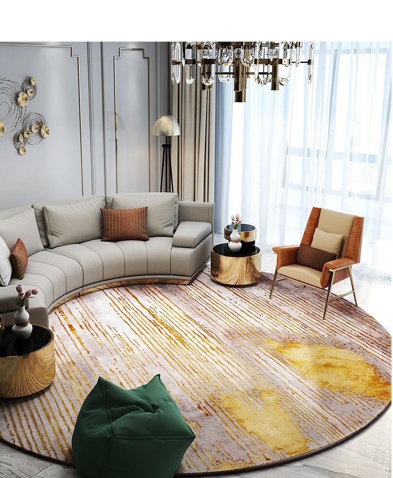 Скандинавские ковры для гостиной, домашний декоративный круглый ковер для спальни, дивана, журнального столика, круглый ковер, современный коврик для Кабинета