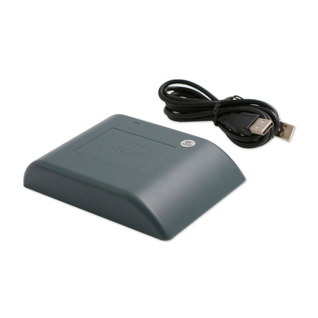 RFID usb rfid card reader 125khz with 10 digit Dec output format for Access controller free sample ID cards