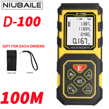 Best Buy NIUBAILE 100M Laser Range Finder Rangefinders Battery-Powered Laser Measuring Device Laser Measuring Tape Measure Tool D100-ZM-Y