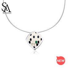 SA SILVERAGE Pendant Woman Chokers 925 Silver Necklaces New 925 Sterling Silver Choker Necklace Snake Shape Chokers Necklaces peri sbox 925 sterling sliver face pendant chokers necklace minimalist coin disc choker necklaces chic layered chain necklaces