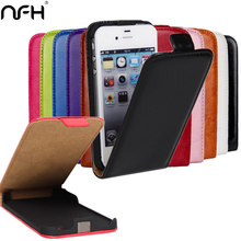 Retro Crazy Horse Leather Case For Apple On iPhone 4 4G 4S Flip Cover with Magnetic buckle Phone Case For iPhone4 S Housing Capa(China)