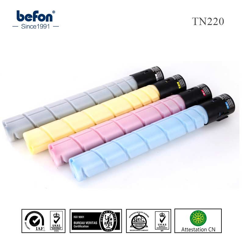 befon compatible tn220 Color toner Cartridge compatible for Konica Minolta Bizhub C221 221S C281 281 printer тонер konica minolta tn 710 для bizhub 601 751 55000стр