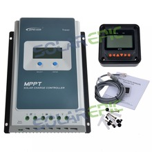 20A MPPT Solar Charge Controller + Remote Meter MT50 EPEVER Battery Regulator Max 100V PV 12V/24V Tracer AN With LCD Display