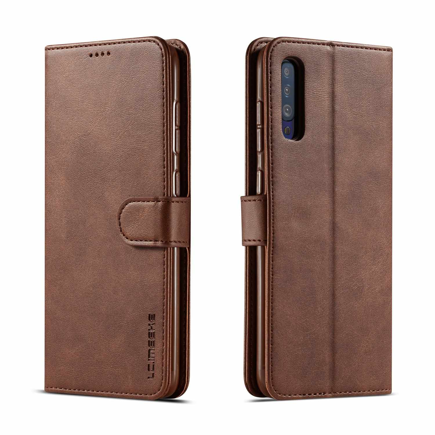 Phone Case For Samsung Galaxy A50 Case Luxe Leather Flip Wallet Cover For Samsung A50 A 50 Phone Bag Case Galaxy A50 Coque