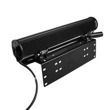 Easy Installation License Number Plate Frame Holder Light Bar Mount Front Bumper For Offroad Truck Vehicle