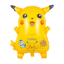 New inflatable cartoon children love Pokemon Go Balloon Pikachu Party Birthday Balloon Pokemon Yellow Mylar Kids Balloon(China)