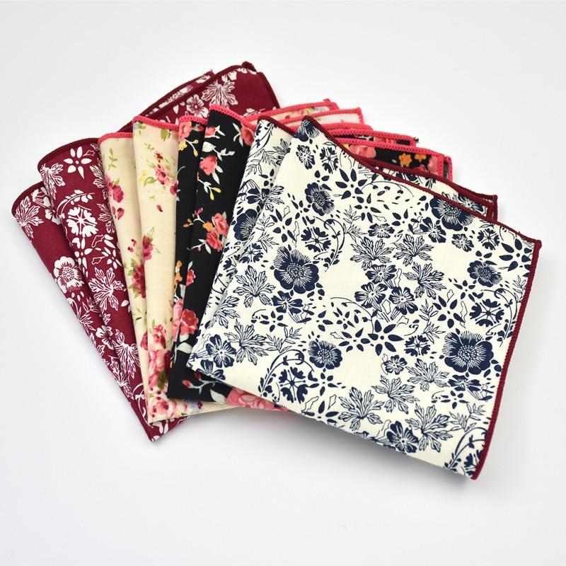 100% Cotton Floral Color Male Female Handkerchief Men Women's