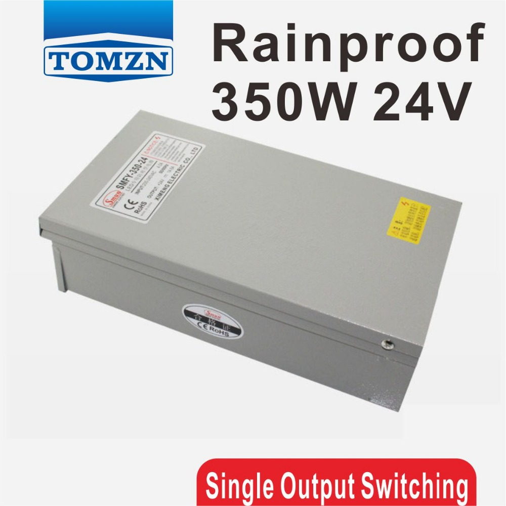 350W 24V 14.6A Rainproof outdoor Single Output Switching power supply smps AC TO DC for LED 60w 24v 2 5a rainproof outdoor single output switching power supply smps ac to dc for led