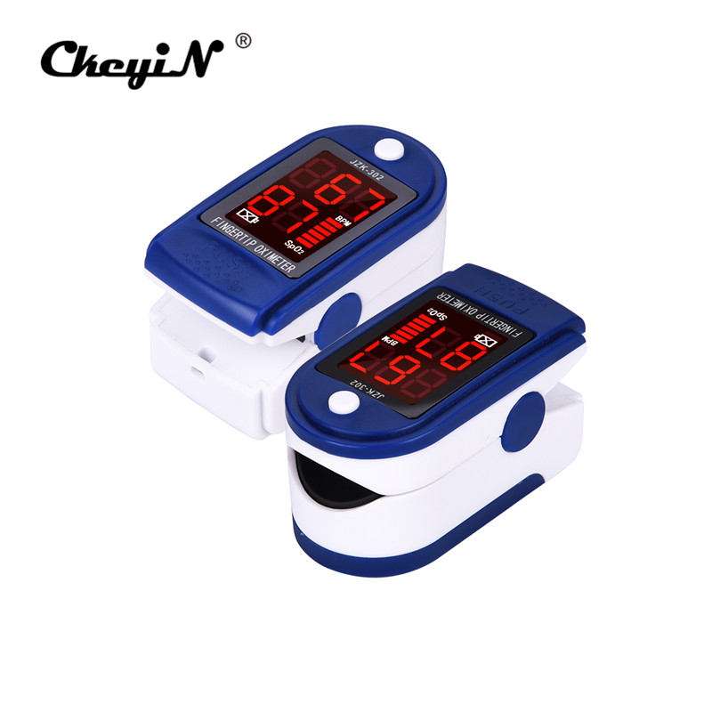 Portable Infrared LED Finger Pulse Oximeter With Case Fingertip Medical Heart Rate Monitor Blood Oxygen SpO2 Saturation Meter oled pulse finger fingertip oximeter blood spo2 pr heart rate monitor