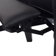 Giantex Single Recliner Sofa PU Leather Club Chair Living Room Furniture Black Modern Single Sofa Chairs HW54916