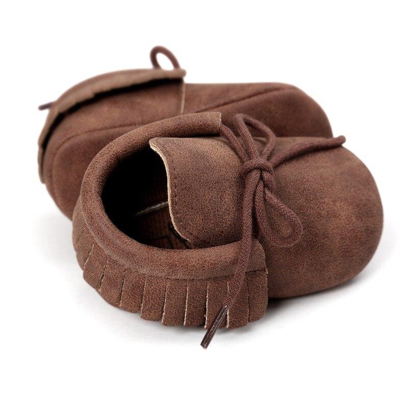 Chaussures de bébé chaud nouveau automne/printemps nouveau-né garçons filles enfant en bas âge chaussures en cuir PU bébé mocassins Sequin espadrilles décontractées 0-18M 4