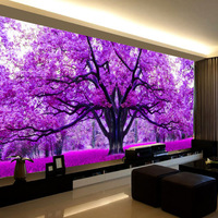 Full Diamond Painting A Purple Cherry Tree Landscape Diy Diamond Embroidery Beautiful Scenery Decorated Living Room A Good Gift