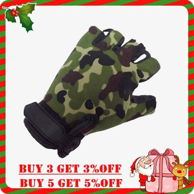 Surwish Tático Ao Ar Livre Luvas Ciclismo Metade do Dedo Luvas Militares para Nerf Jogos de Treinamento De Esportes-Camouflage M L XL