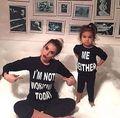 2016 Новый Малыш Девушка Одежда С Длинным Рукавом Толстовка Jumper Хлопок письмо печатные Пуловер