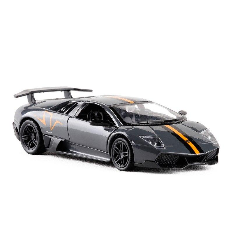 High Simulation RMZ City 1:36 Batman Roadster Classic Metal Car Styling  LP670 Supersport Pull Back Alloy Diecast Model Toy Car