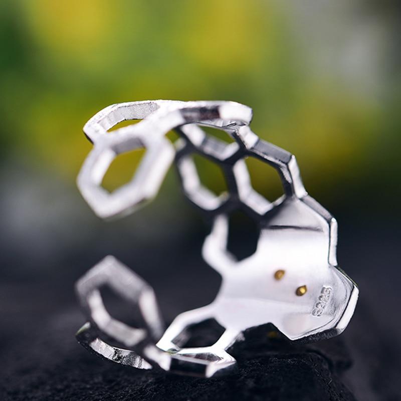 Lotus Fun Echt 925 Sterling Silber Schmuck Natürliche Handgemachte - Edlen Schmuck - Foto 3