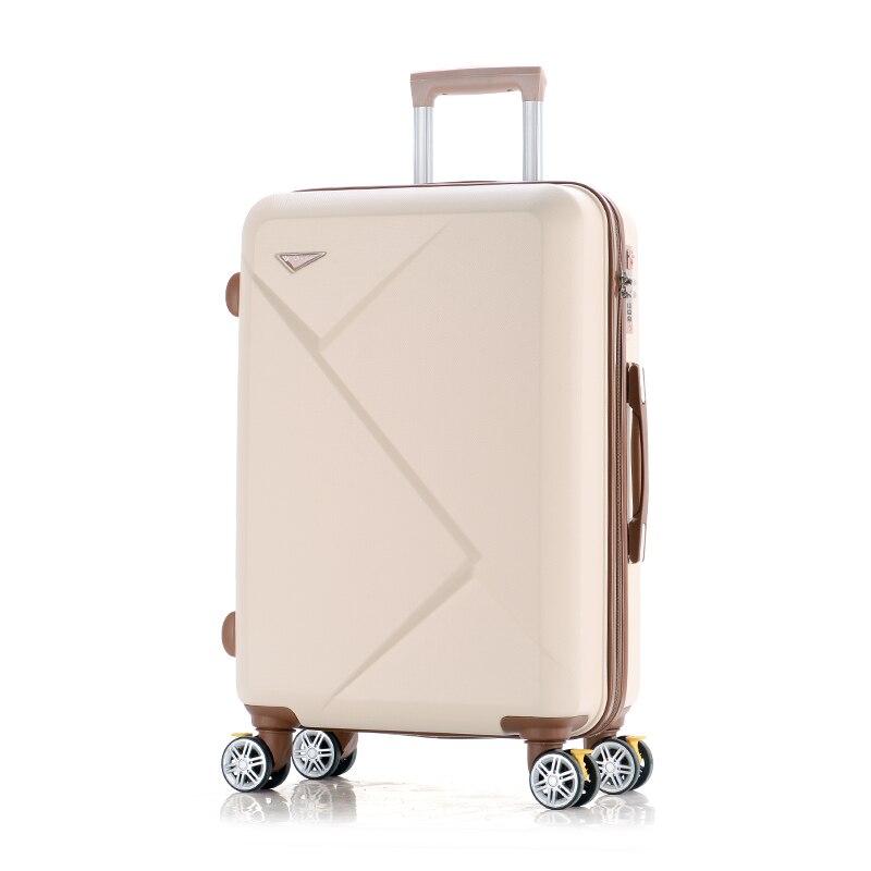 Оптовая продажа! 14 24 дюймов розовый/зеленый/фиолетовый/бежевый ABS Hardside путешествия багажные сумки на Универсальный колеса для молодых девуш...