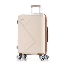 Wholesale!14 24inches pink/inexperienced/purple/beige abs hardside journey baggage luggage on common wheels for younger woman,present for delivery