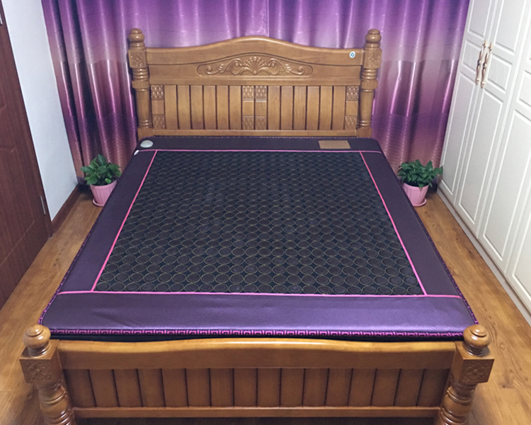 High Quality Heating Jade Mattress Purple Color Edge New Design For Sale 3 Size for You Choice 2016 hot sale jade bed mattress single double heating thermostat jade health mattress pad physiotherapy 3 size for you choice
