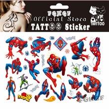 FGHGF 10 Teile / los spidermen 2 Kind Temporäre Body Art Flash Tattoo Aufkleber 17 * 10 cm Wasserdichte schmerzlose tattoo