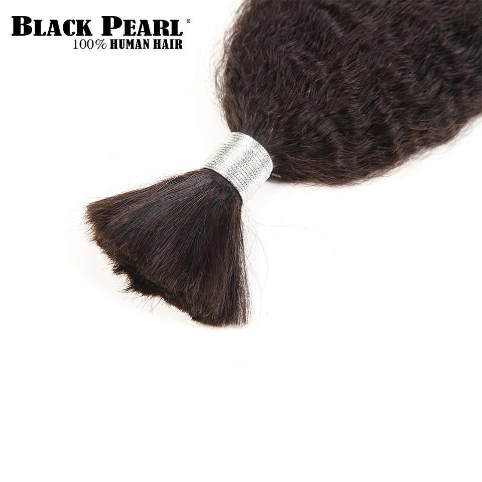 Черные перламутровые предварительно крашеные бразильские волосы плетение пучок s Yaki Striaght человеческие волосы оптом 1 пучок плетеные волосы для наращивания косички
